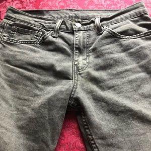 Men's Levis 511's Size 31x30 Distressed Black